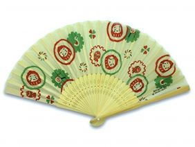 Shinzi Katoh Folding Fan - Daruma