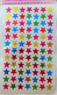 10 sheets of Small Star Shape Glittered Stickers (840 stickers)