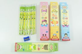PartyErasers Pack of 4 sets of 12 x Cute girl HB Pencils with Eraser