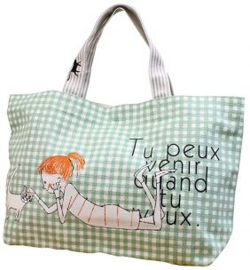 Shinzi Katoh Zipper Tote Bag: Cheri Design