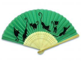 Shinzi Katoh Folding Fan - Suzuneko