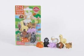 Iwako Novelty Japanese puzzle Erasers set - Savanna (Sheep, Camel, Alpaca etc)
