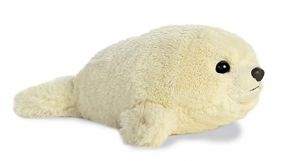 "Baby Harp Seal Mini Flopsie 8"" by Aurora"
