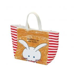 Shinzi Katoh Short Tote Bag: Bunny Design