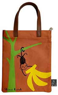 Shinzi Katoh Mini-Tote ipad B5 hand bag - Monkey
