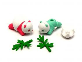Iwako 2 Cute Baby Panda Japanese Erasers (2 pack - Random Colours)