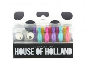 House of Holland ten pin and ball bowling eraser set by PartyErasers