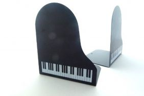 FunMusic Bookend - Grand Piano Shape Book Stand Pair