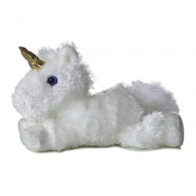 Aurora World, Mini Flopsie, Unicorn Soft, 16622, White, Cuddly Toy for Children