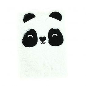 Plush A5 Lined Notebook/Journal - Happy Zoo - Just Hanging - Panda