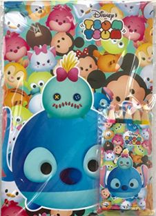 PartyErasers Tsum Tsum Stitch 18.2cm x 13cm 8pp Coloring Paper with 5 colour pencils Set