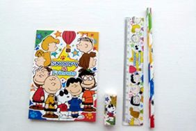 Peanuts Snoopy & Friends 4 pieces Colourful Stationery Set (Blue)