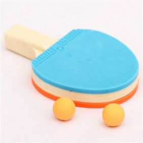 blue-orange table tennis racket eraser by Iwako from Japan