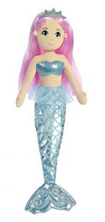 Aurora World Sea Sparkles Crystal Mermaid Plush