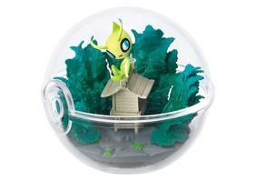 Pokemon Pokeball terrarium 3 Collection Gold Silver Figure~251 Celebi