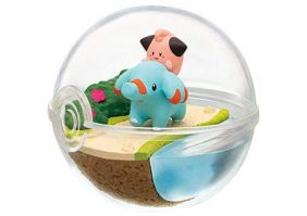 Re-Ment Pokemon Terrarium Collection 7 - Cleffa and Phanpy