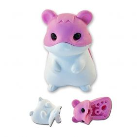 cute pink hamster eraser from Japan by Iwako