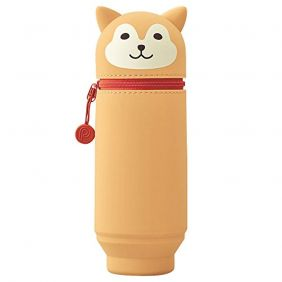 LIHIT LAB. PuniLabo Stand Up Pen Case (Pen Holder), Dog, 2.9 x 8.3 inches (A7714-2)