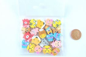 Kawaii 21 pieces Random Mix of Mini Cute Animal Shape Erasers