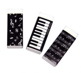 PartyErasers Music Themed Pack of 3 Erasers