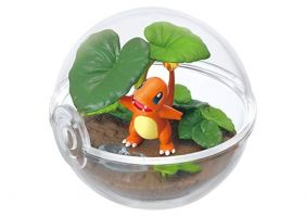 Re-Ment Pokemon Pokeball terrarium 3 Collection Gold Silver Figure~004 Hitokage Charmander Glumanda Salamèche