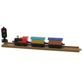 Locomotive Set a Three-Dimensional Fun Eraser/Blister Pack