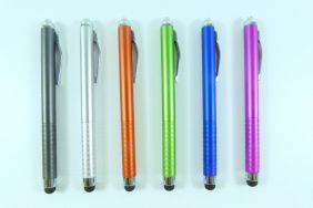 PartyErasers Pack of 6 x 2 in 1 Touch Screen Pen/ Ballpoint Pen for Iphone Ipad Tablet (6 assorted colours)