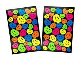 PartyErasers Bright Colour Paper Happy Heart Stickers