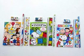 PartyErasers Pack of 3 Peanuts Snoopy & Friends 4 pieces Colourful Stationery Sets
