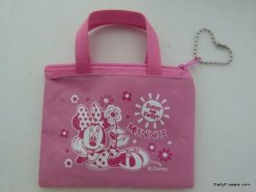 Disney Minnie Pink Mini Zipper Purse Pouch