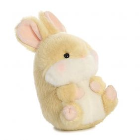 Aurora World Lively Bunny Rolly Pets Plush Toy (Beige/White/Pink)