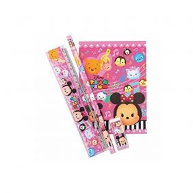 PartyErasers Tsum Tsum 4 pieces Stationery Set (Pink)