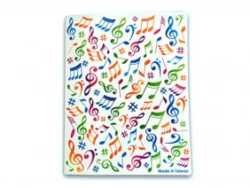Music Themed 40 Pockets Plastic Folder Display Book Soft Cover - Colourful Music Notes Design