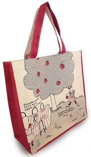 Shinzi Katoh Tote Bag: Apple Design