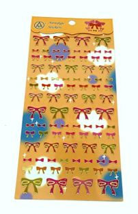 PartyErasers PVC Gold Stamping Stickers - Ribbons