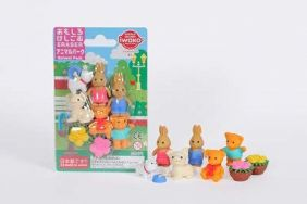 Iwako Erasers Animal Park Blister Pack