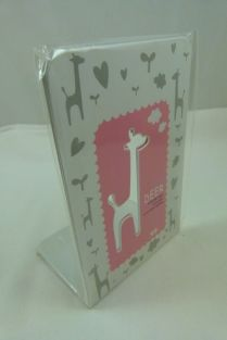 A Pair of Cute Animal High Quality Metal Bookend (Pink)