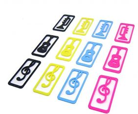 Music Themed Musical Instruments Mini Bookmarks (a Box of 40)