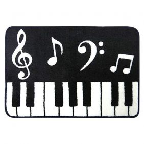 Music Themed Keyboard Design Floor Door Mat
