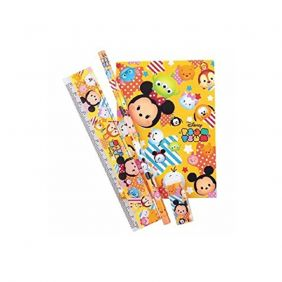PartyErasers Tsum Tsum 4 pieces Stationery Set (Yellow)