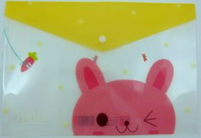 Animal Press Stud Document Envelope wallet (Bunny)