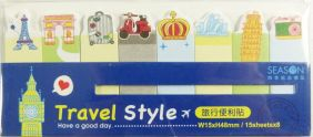 PartyErasers Self-Stick Sticky Note Flag Seal - Travel
