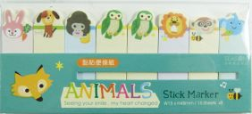 PartyErasers Self-Stick Sticky Note Flag Seal - Animals
