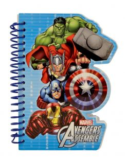 Avengers Die Cut Spiral Bound Notebook