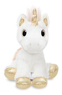 Aurora World 60856 Sparkle Tales Star Unicorn Soft Toy, Gold, 12-Inch