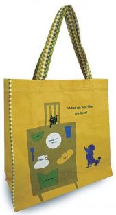 Shinzi Katoh Colour handle Tote Bag - break fast