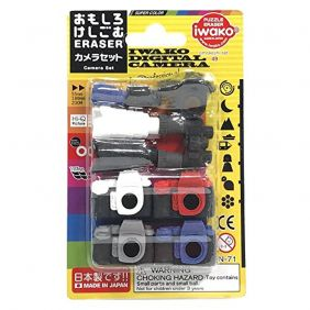 Iwako Camera and binoculars Japanese Erasers Blister Set from Japan