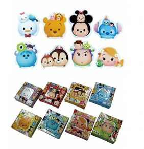 PartyErasers Tsum Tsum Character Die-Cut Erasers (8 pieces)