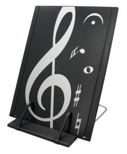 Music Themed Black & white treblef clef design Book Stand (ABS Plastic)