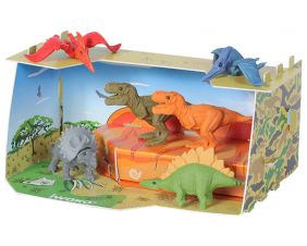 Iwako Craft House Genuine Japanese Dinosaur Animal Erasers set